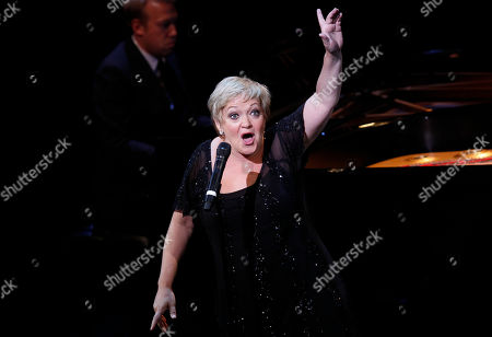 Maria Friedman performs during A Tribute to Marvin Hamlisch, a memorial concert, at The Juilliard School's Peter Jay Sharp Theater, in New York