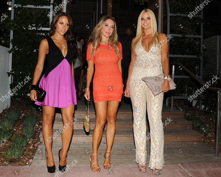 MIAMI, FL - JULY 21: Marysol Patton,Melissa Gorga and Alexia Echeverria appear during Mercedes-Benz Fashion Week Swim 2013 at The Raleigh on in Miami, Florida