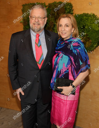 Philanthropists David Rockefeller, Jr., left, and Susan Rockefeller, right, attend the MoMA Party in the Garden, in New York