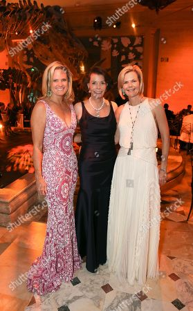 From left, Ashley McDermott, Lynn Booth and Stephanie Shafran during the 100th Anniversary Gala at the Natural History Museum of Los Angeles County, in Los Angeles, Calif