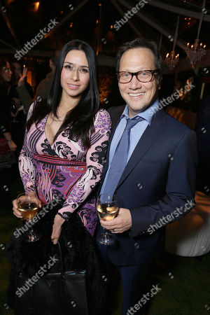 Patricia Schneider and Rob Schneider seen at Netflix Golden Globes VIP Reception at the home of Ted Sarandos and Nicole Avant, in Los Angeles, CA