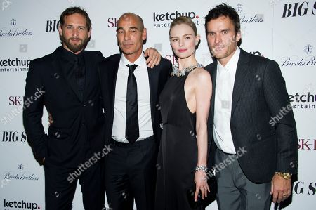"""From left, Josh Lucas, Jean-Marc Barr, Kate Bosworth and Balthazar Getty attend the premiere of """"Big Sur"""", in New York"""