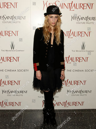 """Actress Marie de Villepin attends the premiere of """"Yves Saint Laurent"""" hosted by Yves Saint Laurent Couture Palette & The Cinema Society, in New York"""