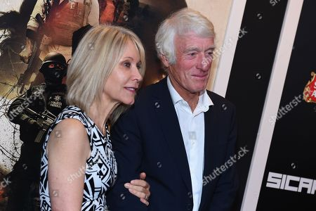 """Director of photography Roger Deakins, right, and Isabella James Purefoy Ellis attend a special screening of """"Sicario"""" at The Museum of Modern Art, in New York"""