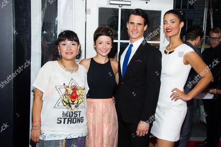 Satsuki Okawa, left, Phoebe Neidhardt, Nick Ballard and Jessica Clark attend the premiere of Lexus Short Films on in New York