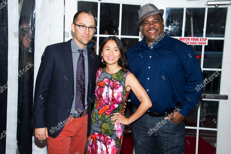 Jon Goldman, left, Hong Chau and Leonard Earl Howze attend the premiere of Lexus Short Films on in New York