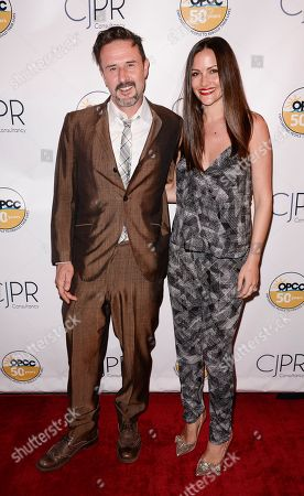 Actor David Arquette, left, and Christina McLarty attend the OPCC 50th Anniversary Celebration at The Broad Stage on in Santa Monica, Calif