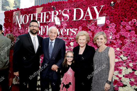 "Doug LaGambina, Director Garry Marshall, Barbara Marshall and Kathleen Marshall seen at Open Road Presents the World Premiere of ""Mother's Day"" at TCL Chinese Theatre, in Hollywood"