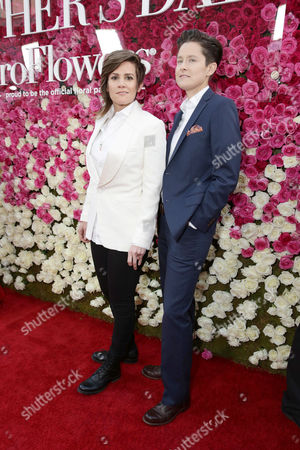 """Cameron Esposito and Rhea Butcher seen at Open Road Presents the World Premiere of """"Mother's Day"""" at TCL Chinese Theatre, in Hollywood"""