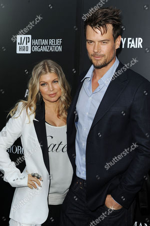 Fergie, at left, and Josh Duhamel attends the Georgio Armani party to celebrate Paris Photo Los Angeles at Paramount Studios on in Los Angeles