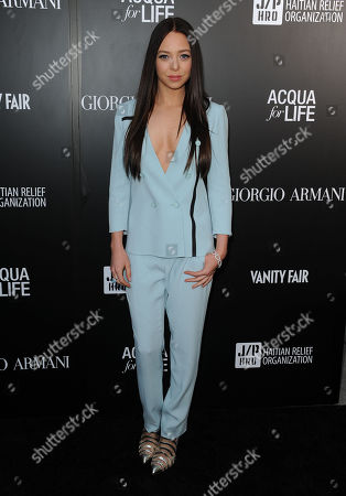 Portia Doubleday attends the Georgio Armani party to celebrate Paris Photo Los Angeles at Paramount Studios on in Los Angeles