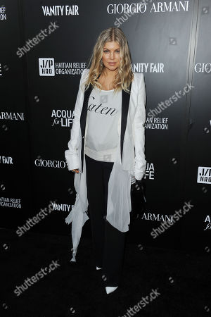 Fergie attends the Georgio Armani party to celebrate Paris Photo Los Angeles at Paramount Studios on in Los Angeles