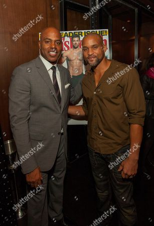 Co-host of Entertainment Tonight's Kevin Frazier and celebrity fitness trainer Shaun T during the pre-race dinner for the 9th annual Men's Health Urbanathlon presented by Polo Red by Ralph Lauren, at RPM Steak on in Chicago