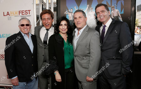 """Warner Bros. Pictures Distribution President Dan Fellman, Film Independent co-president Sean McManus, President of Worldwide Marketing Sue Kroll, producer Gregory Jacobs, and Film Independent co-president Josh Welsh attend the premiere of """"Magic Mike"""" at Regal Cinemas L.A. Live on in Los Angeles"""
