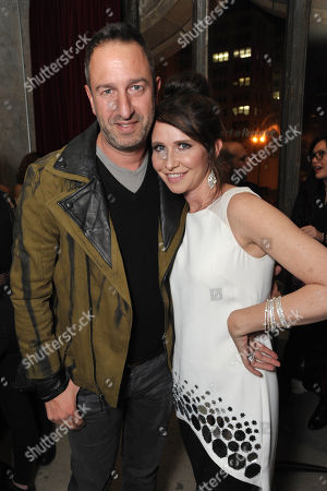Stock Picture of Christos Garkinos, left, and Janie Bryant attend the Pret-A-Reporter at the Ace Hotel presented by Samsung Galaxy, on in Los Angeles