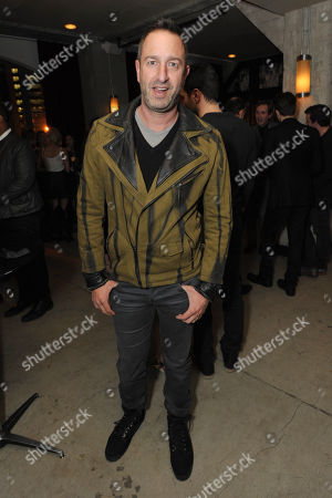 Christos Garkinos attends the Pret-A-Reporter at the Ace Hotel presented by Samsung Galaxy, on in Los Angeles