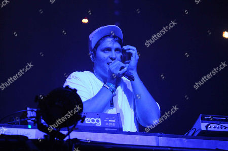 Pretty Lights performing as part of the CounterPoint Music Festival, in Kingston Downs, GA