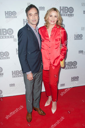 "Don McKellar and actress Kim Cattrall seen at the screening of ""Sensitive Skin"", in Toronto, Canada"