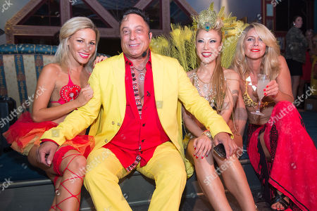 Sir Ivan and guests attend Sir Ivan's Midnight Sun Party at Castle On The Sun in Water Mill on in New York