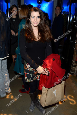 Martha Freud poses at Sir Salman Rushdie Book Launch Party at the The Collection on in London