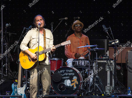 Clarence Greenwood as Citizen Cope performs as the opener for Counting Crows during the Somewhere Under Wonderland Tour 2015 at Chastain Park Amphitheater, in Atlanta