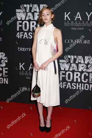 """Stock Picture of Rhiannon McConnell attends the Star Wars """"Force 4 Fashion"""" event at Skylight Modern, in New York"""