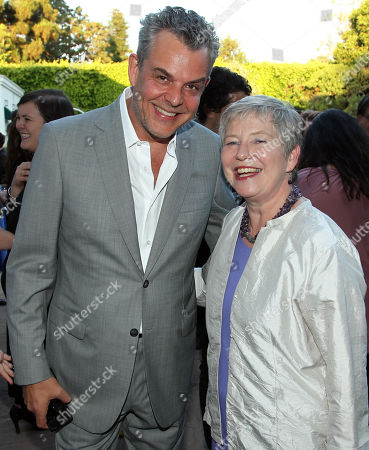 """Stock Picture of Danny Huston, left, and Consul General Dame Barbara Hay pose together at STARZ' """"The White Queen"""" cocktail event at the British Consulate on in Los Angeles. """"The White Queen"""" premieres Saturday, Aug. 10 on STARZ"""
