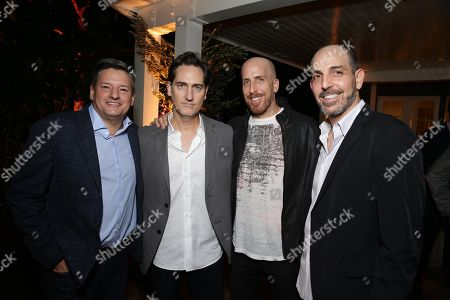 Netflix Chief Content Officer Ted Sarandos, Creator/Writer/Exec. Producer Daniel Zelman, Creator/Writer/Exec. Producer Todd A. Kessler and Creator/Writer/Exec. Producer Glenn Kessler seen at Ted Sarandos' Annual Netflix Emmy Nominee Toast, in Beverly Hills, CA