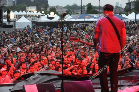 Brian Fallon, Ben Horowitz, Alex Levine and Alex Rosamilia with The Gaslight Anthem performing at the Shaky Knees Music Festival, in Atlanta