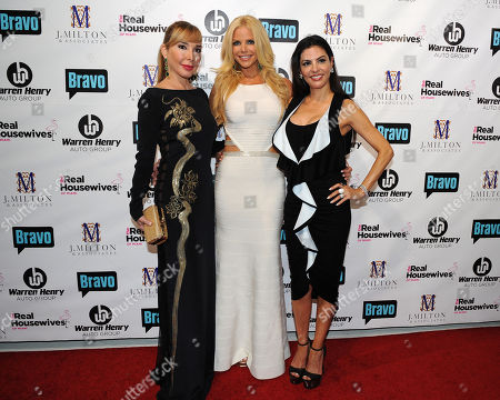 Stock Photo of Maryisol Patton, Alexia Echeverria and Adriana De Moura attend Bravo Televisions' The Real Housewives of Miami' Season 3 premiere party on in Miami, Florida