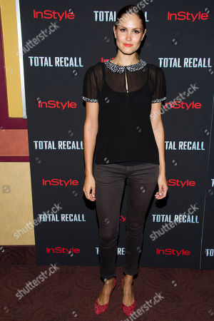 """Donnet Dumas attends a screening of """"Total Recall"""" on in New York"""