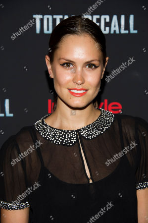 """Stock Photo of Donnet Dumas attends a screening of """"Total Recall"""" on in New York"""