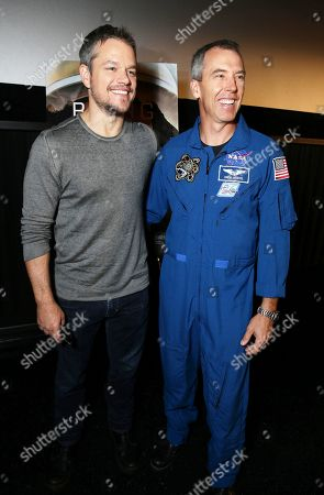 Matt Damon Astronaut Drew Feustel at the Twentieth Century Fox 'The Martian' Trailer Launch Event at United Artists La Canada Theater, in La Canada Flintridge, CA