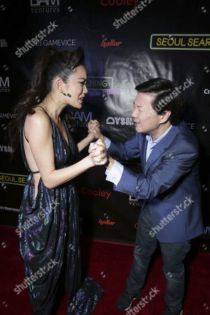 "Stock Photo of Ken Jeong and Jessika Van seen at Wonder Vision Presents ""Seoul Searching"" Premiere, in Los Angeles, CA"