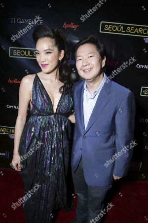 "Stock Picture of Ken Jeong and Jessika Van seen at Wonder Vision Presents ""Seoul Searching"" Premiere, in Los Angeles, CA"