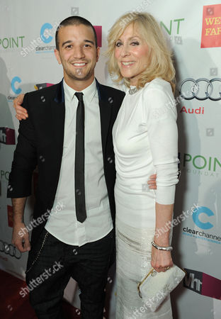 """Mark Ballas Jr., left and Judith Light arrive at """"Voices On Point"""" Concert & Gala held at The Wiltern theatre, in Los Angeles"""