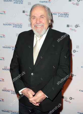 George Schlatter arrives at the Kennedy Center for the Performing Arts for the 18th Annual Mark Twain Prize for American Humor presented to Eddie Murphy, in Washington