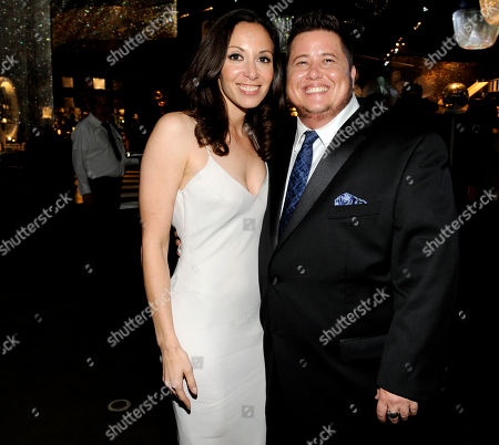 Stock Picture of LOS ANGELES, CA - SEPTEMBER 10: (L-R) Jennifer Elia and Chaz Bono attends the 2011 Academy of Television Arts & Sciences Primetime Creative Arts Emmy Awards Governors Ball at the Los Angeles Convention Center on in Los Angeles, California