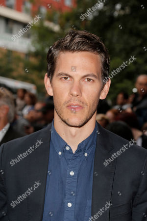 """Tom Lipinski arrives at the premiere of """"Labor Day"""" on day 3 of the Toronto International Film Festival at the Ryerson Theatre, in Toronto"""