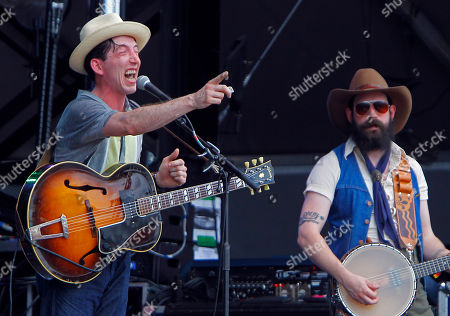 Andrew Heissler of Pokey LaFarge, left, performs at the Bonnaroo Music and Arts Festival on in Manchester, Tenn