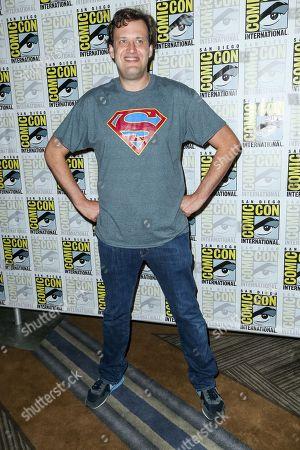 """Andrew Kreisberg attends the """"Flash"""" press line on day 3 of Comic-Con International, in San Diego"""
