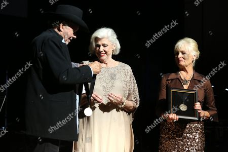 From left, Bobby Bare, Bonnie Brown and Becky Brown at The Country Music Hall of Fame 2015 Medallion Ceremony at Country Music Hall of Fame and Museum on in Nashville, Tenn