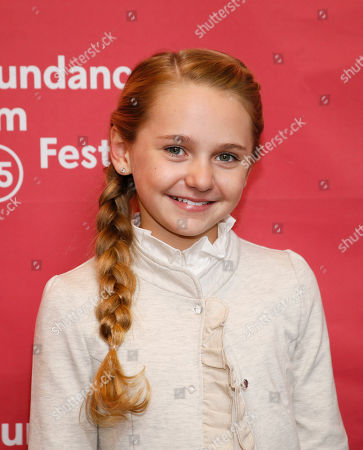"""Actress Avery Phillips poses at the premiere of """"Stolkholm, Pennsylvania"""" during the 2015 Sundance Film Festival, in Park City, Utah"""