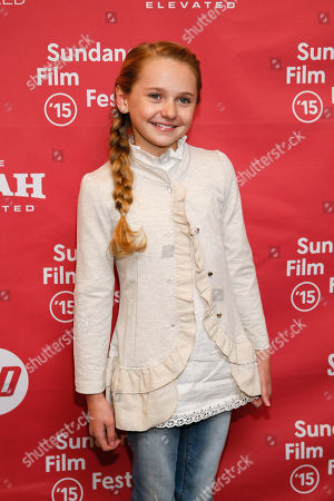 "Actress Avery Phillips poses at the premiere of ""Stolkholm, Pennsylvania"" during the 2015 Sundance Film Festival, in Park City, Utah"