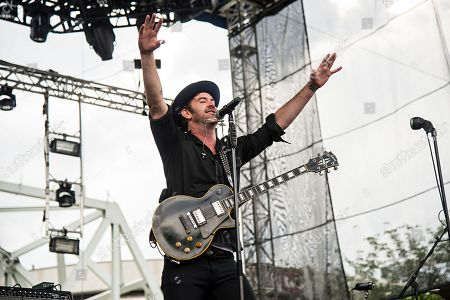 Garrett Dutton of G. Love & Special Sauce performs at Bunbury Music Festival at Sawyer Point Park & Yeatman's Cove, in Cincinnati