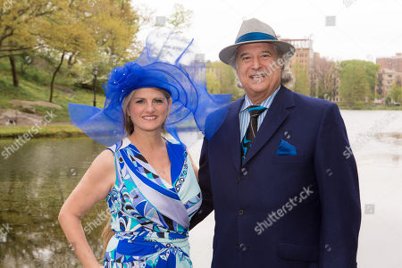 "Bonnie Comley and Stewart F. Lane - aka ""Mr. Broadway"" arrive at 34th Annual Frederick Law Olmsted Awards Luncheon at Central Park on Weds, in New York"
