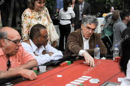 Elliot Gould, center, andTed Lange attend the 3rd Annual SAG Foundation Poker Classic on Saturday, Aug. 24 in Los Angeles