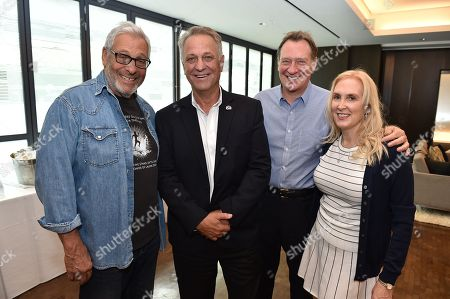 From left, Hawk Koch, Vance Van Petten, Gary Luchessi and Susan Sprung attend at the 8th Annual Produced By Conference presented by Producers Guild of America at Sony Pictures Studios on in Culver City, Calif
