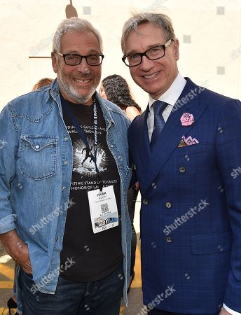 Hawk Koch and Paul Feig attend the 8th Annual Produced By Conference presented by Producers Guild of America at Sony Pictures Studios on in Culver City, Calif