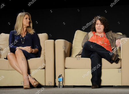 """MARCH 26: (L-R) Creators/executive producers DeAnn Heline and Eileen Heisler participate in the Academy of Television Arts & Sciences Presents an Evening with """"The Middle"""" panel on in North Hollywood, California"""
